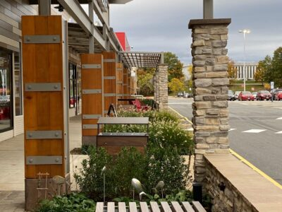 Shopping Center Outdoor Seating Landscape Architecture