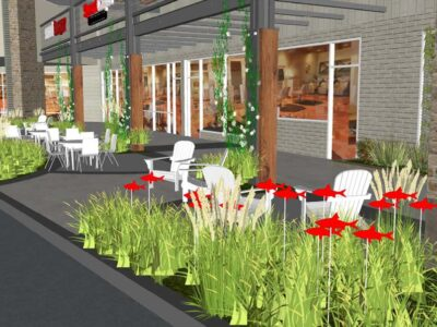 Troy Hill Shopping Center Outdoor Seating Landscape Architecture