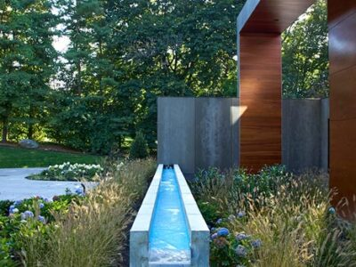 Sands Point NY Landscape Architecture // Concrete Pool Fountain