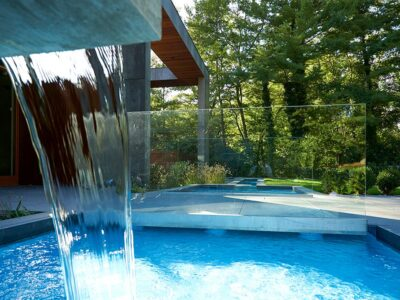 Sands Point NY Landscape Architecture // Modern Pool Fountain